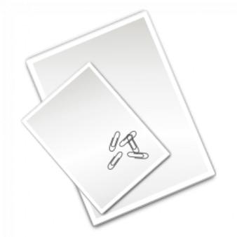 feuilles de papier ordinaire avec des clips