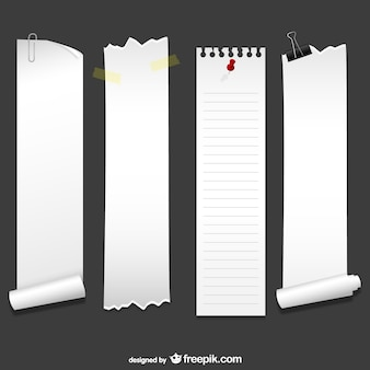 Feuilles verticales de papier