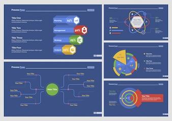 Five Statistics Slide Templates Set