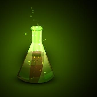 Flacon vectoriel avec élément toxique présent en elle