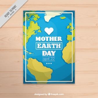 Flat carte de voeux pour le jour de la terre mère
