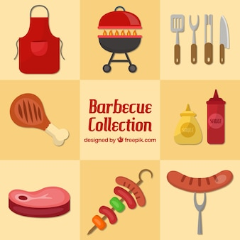 Flat collection barbecue