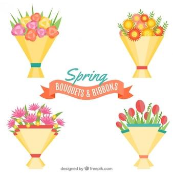 Flat collection de bouquet