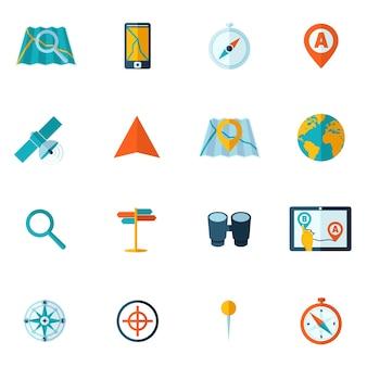 Flat icônes d'aventure