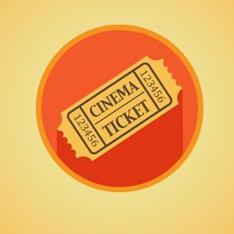 Flat ticket de cinéma