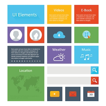 Flat Ui Elements Design