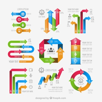 Flèches éléments infographiques