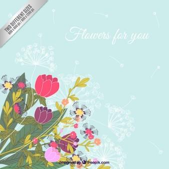 Fleurs pour vous, fond