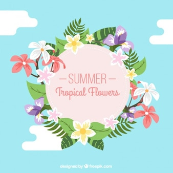 fleurs Summertime tropical décoration