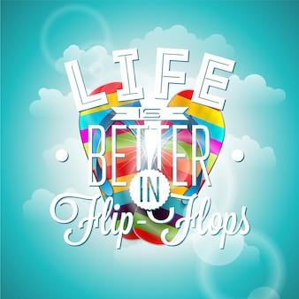 Flip flops quote background