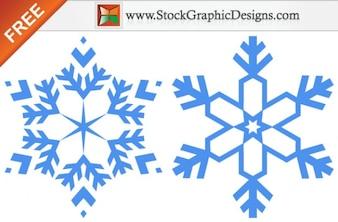 Flocons de neige images vectorielles gratuites graphique