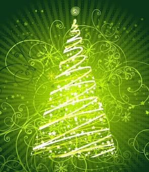 floral abstrait arbre de Noël graphique vectoriel