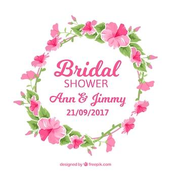 Floral aquarelle couronne de mariée partie de douche