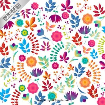 Floral background dans le style coloré