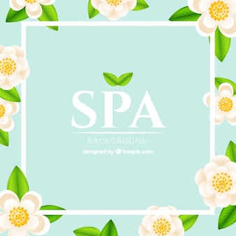 Floral background spa
