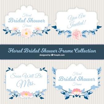 Floral mariée pack cadre de douche