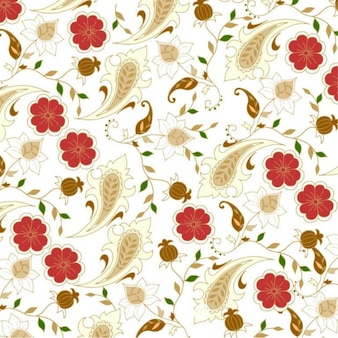 floral seamless dans les fleurs rétro