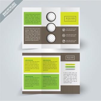 Flyer conception de golf vert et jaune