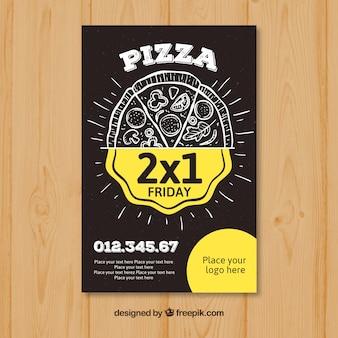 Flyer d'offre de pizza