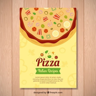 Flyer pizza pizza italienne