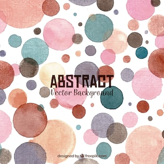 Fond abstrait avec des cercles d'aquarelle