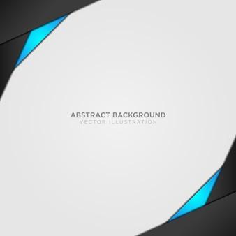 Fond abstrait avec détails en noir et bleu