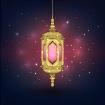 Fond arabe de la lampe