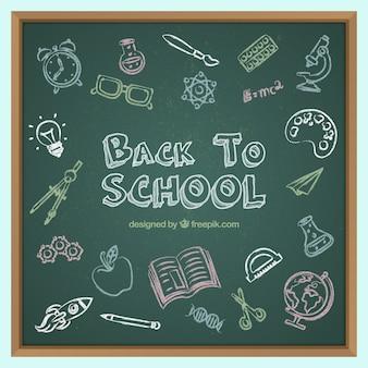 Fond Blackboard avec des dessins