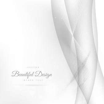Fond blanc avec un fond de lignes ondulées