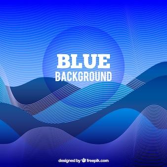 Fond bleu avec des formes ondulées