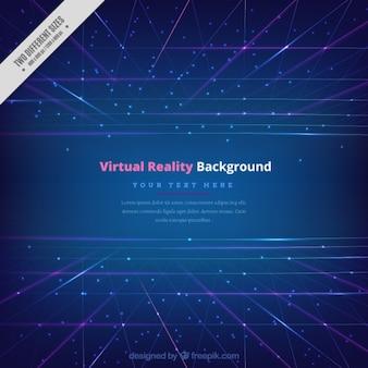 Fond bleu de réalité virtuelle avec des lignes