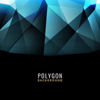 Fond bleu polygonal moderne