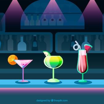 Fond coloré de cocktails design design