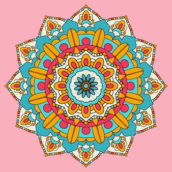 Fond coloré de conception de mandala