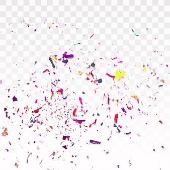 Fond coloré de confettis