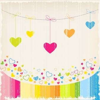 Fond d'amour avec le coeur