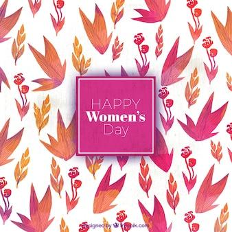 Fond d'aquarelle avec des fleurs décoratives pour la journée des femmes