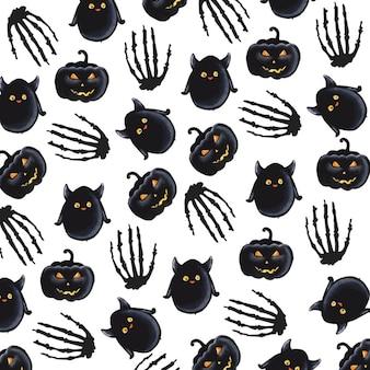 Fond d'aquarelle de Halloween