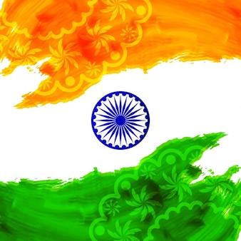 Fond d'aquarelle de l'Inde