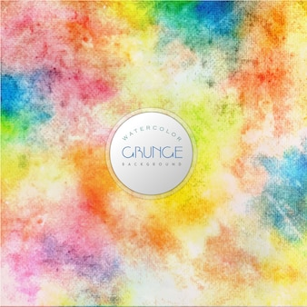 Fond d'aquarelle multicolore