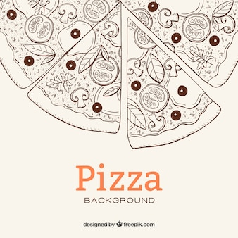 Fond d'esquisse de Pizza