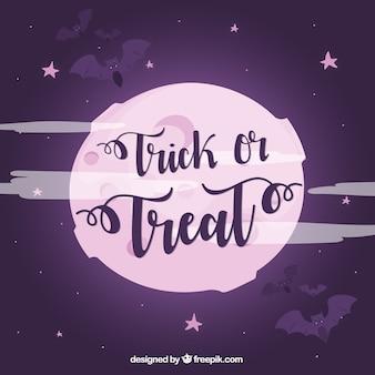 Fond d'Halloween avec ciel nocturne
