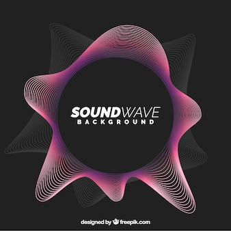 Fond d'ondes sonore abstrait