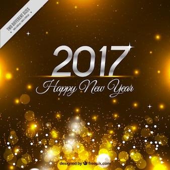 Fond d'or bokeh de bonne année 2017