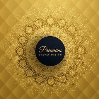 Fond d'or prémum avec décor de mandala