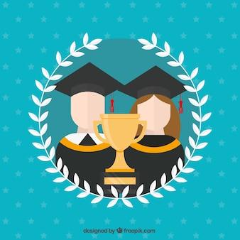 Fond d'université avec trophée