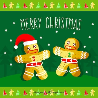 Fond de biscuits de pain d'épice de Noël