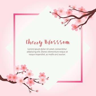 Fond de cadre de cerisier