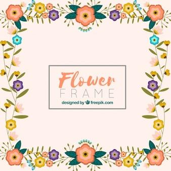 Fond de cadre fleuri