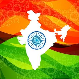 Fond de carte de l'Inde